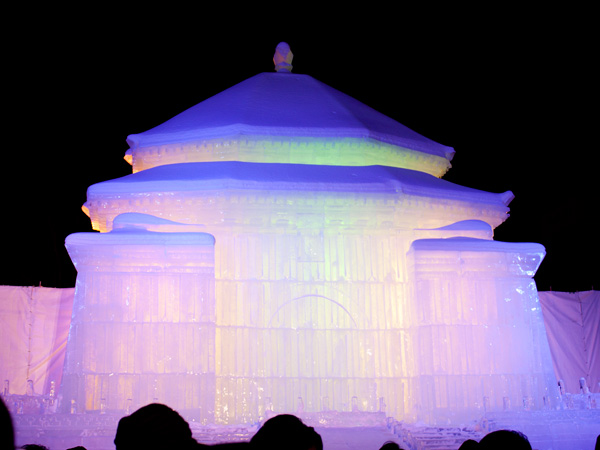 第64回札幌雪まつり 台湾の中正紀念堂の大氷像1