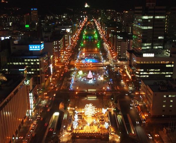 テレビ塔から見る札幌ホワイトイルミネーション