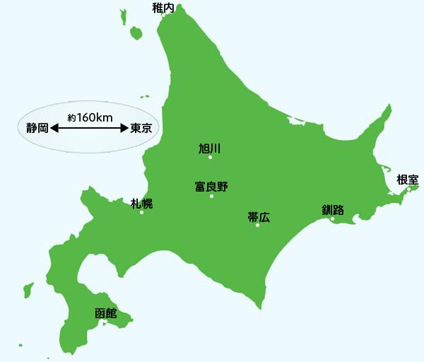 北海道旅行の際に知っておくと役立つかもしれない主要都市の距離