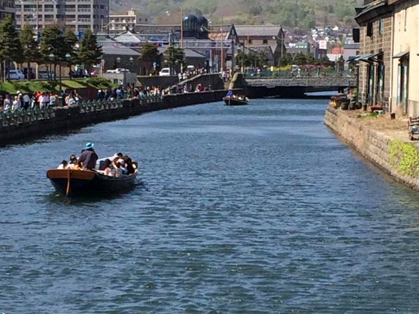 小樽運河クルージングの様子